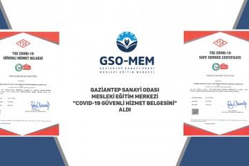 """GSO-MEM """"COVID-19 GÜVENLİ HİZMET BELGESİ"""" ALDI"""
