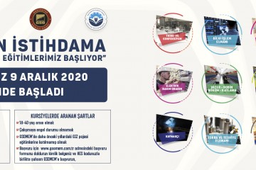 GSOMEM'DE İŞ GARANTİLİ ÜCRETSİZ EĞİTİMLER OCAK 2021'DE BAŞLIYOR
