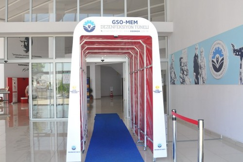 DISINFECTION TUNNEL FOR INDOOR AND OUTDOOR IS MANUFACTURED BY GSOMEM