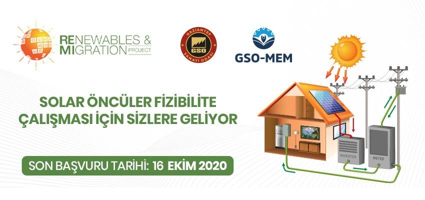 GSO-MEM'DEN ÜCRETSİZ SOLAR ENERJİ FİZİBİLİTE FIRSATI